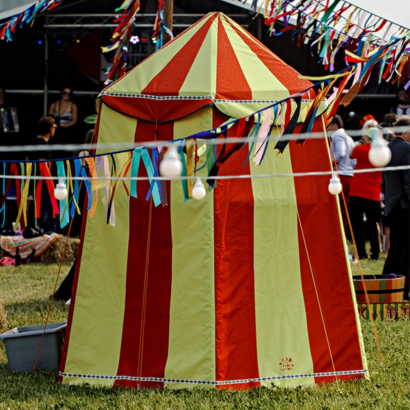 Mini Red and Yellow Circus Tent