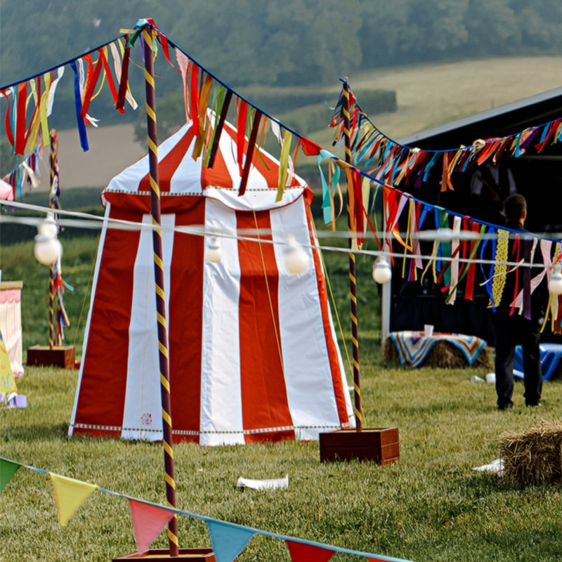 Mini Red and White Circus Tent