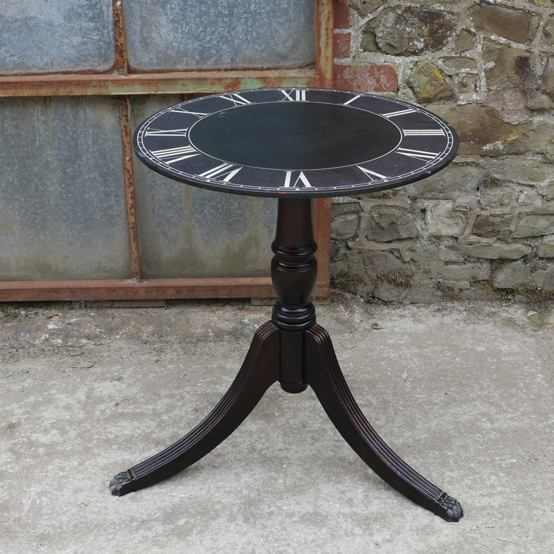 Black Clock Tripod Table 1