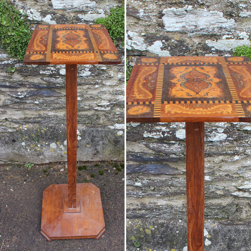 Petite Inlaid Tall Side Table