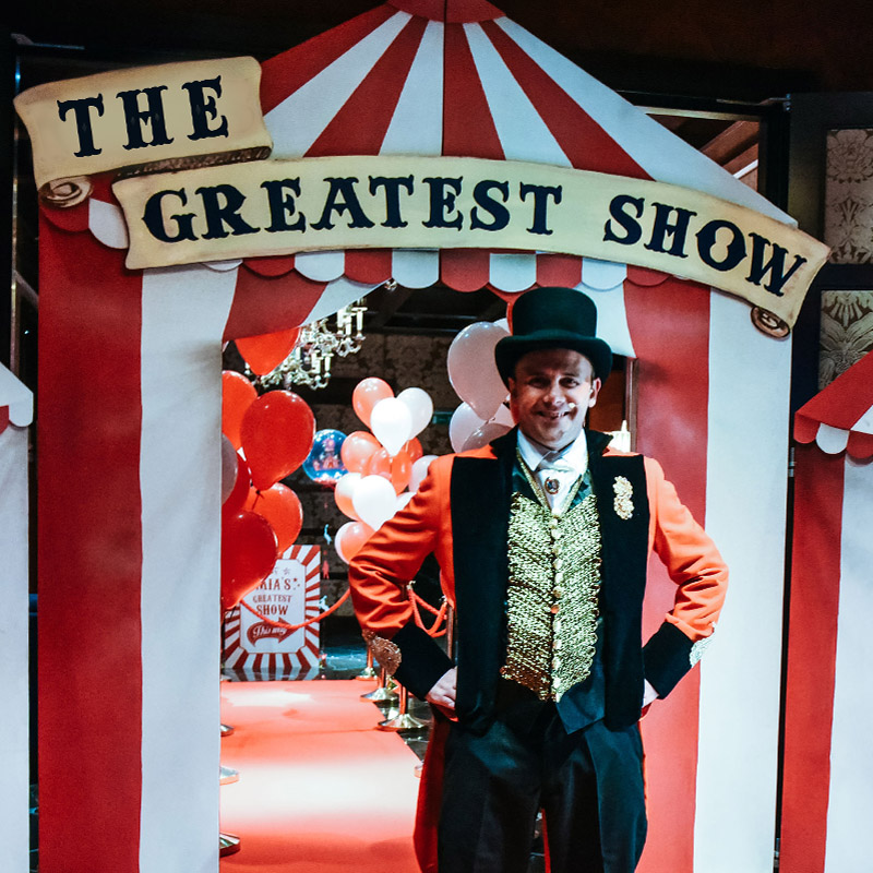 The Greatest Show Scroll Banner