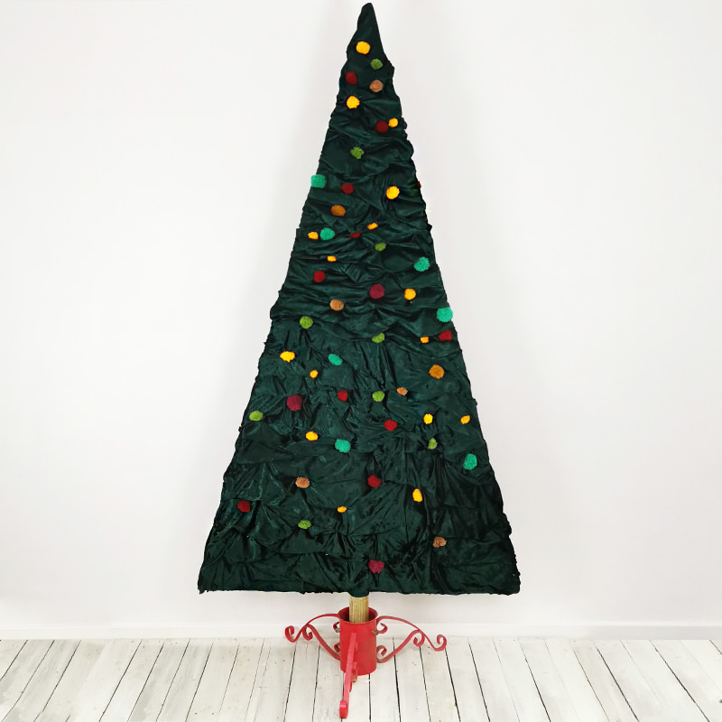 Traditional Fabric Christmas Tree Semi Flat