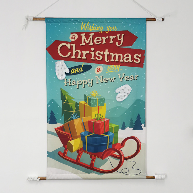 Vintage Merry Christmas Banner
