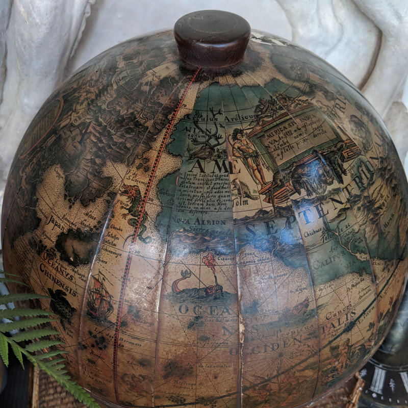 Vintage Tabletop Drinks Globe  2