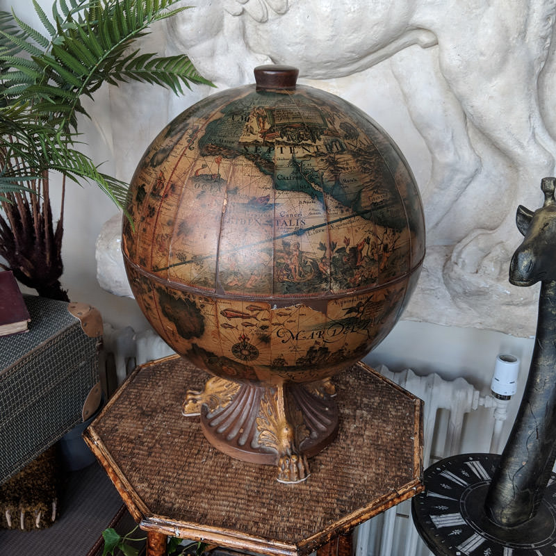 Vintage Tabletop Drinks Globe  1
