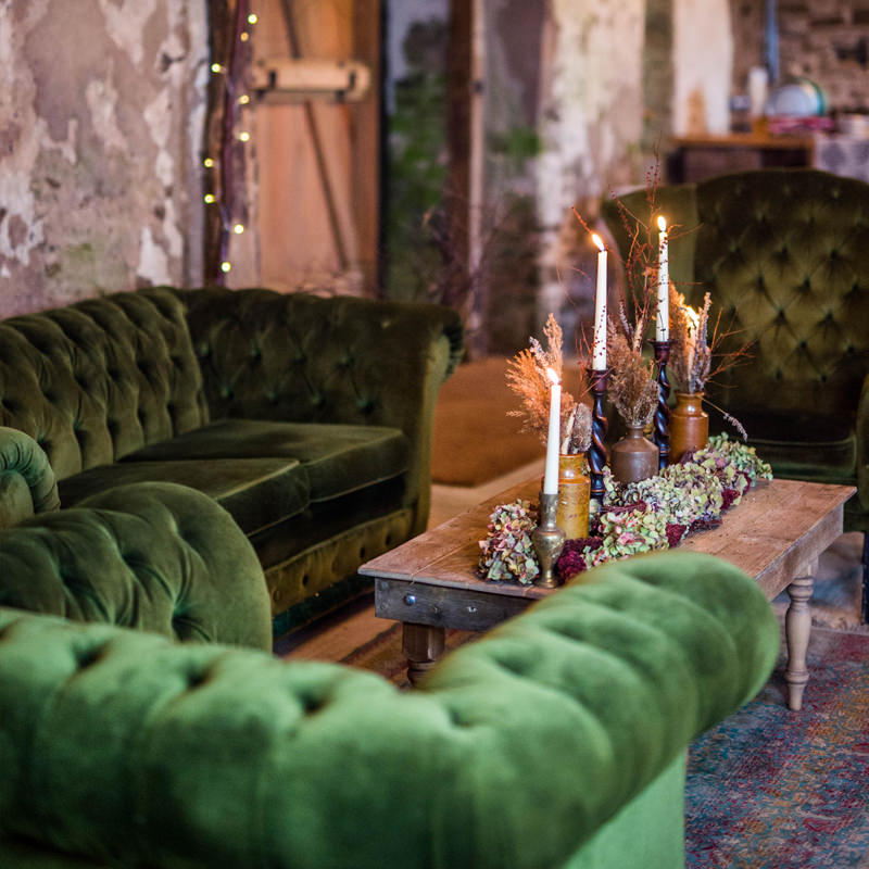 Green Velvet Chesterfield Armchair  2