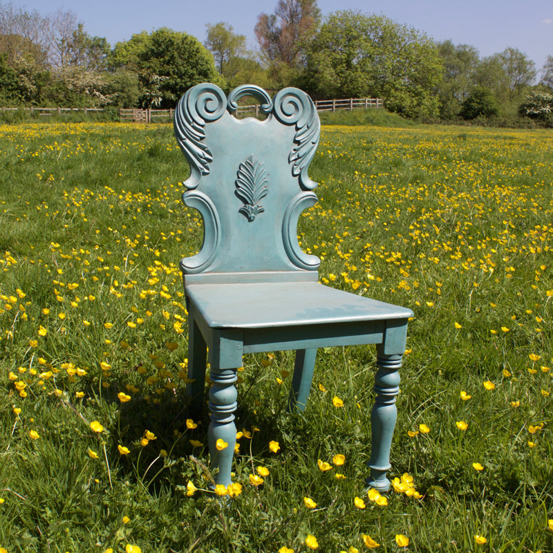 Dainty Wooden Blue Chair  1