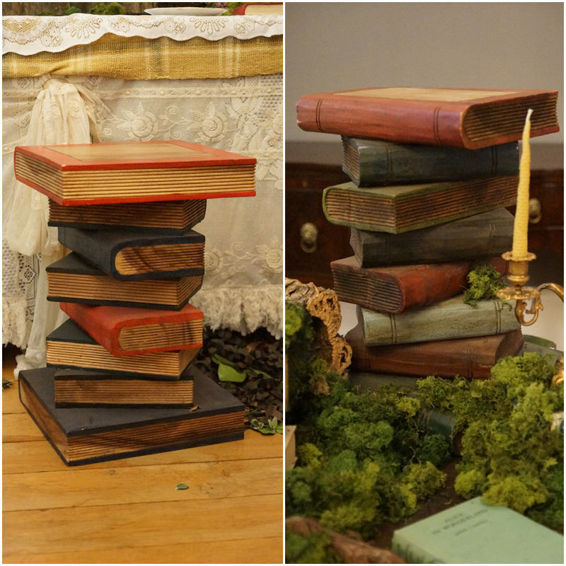 Wooden Book Stack