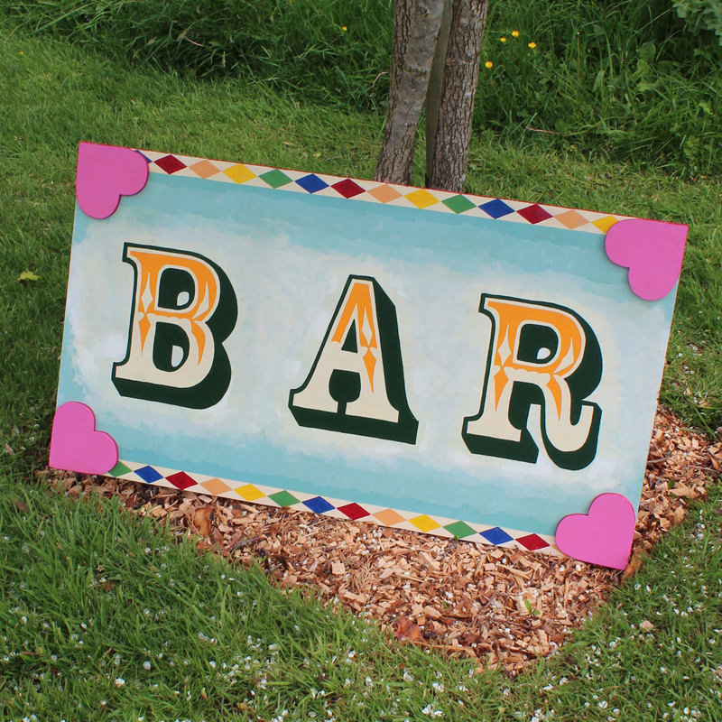 Fairground Candy BAR sign