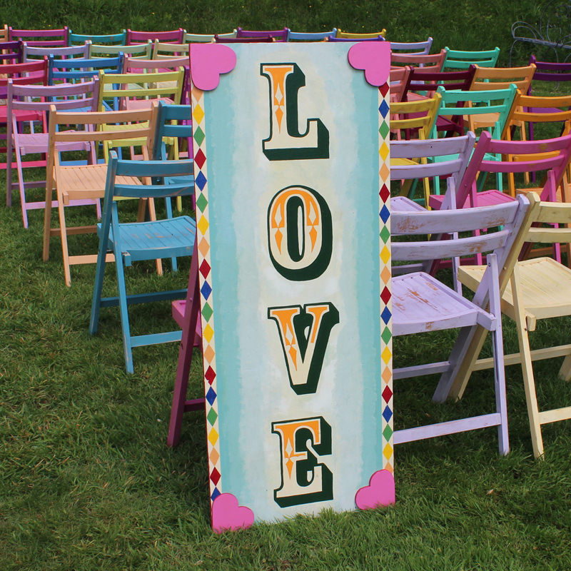 Fairground Candy LOVE Sign