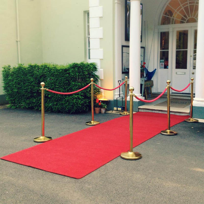 Red Carpet & Gold Barriers