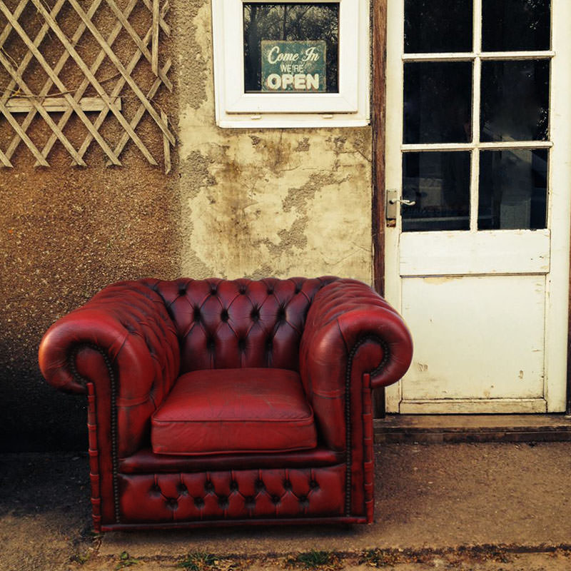 Chesterfield Oxblood Club Chair - Aged