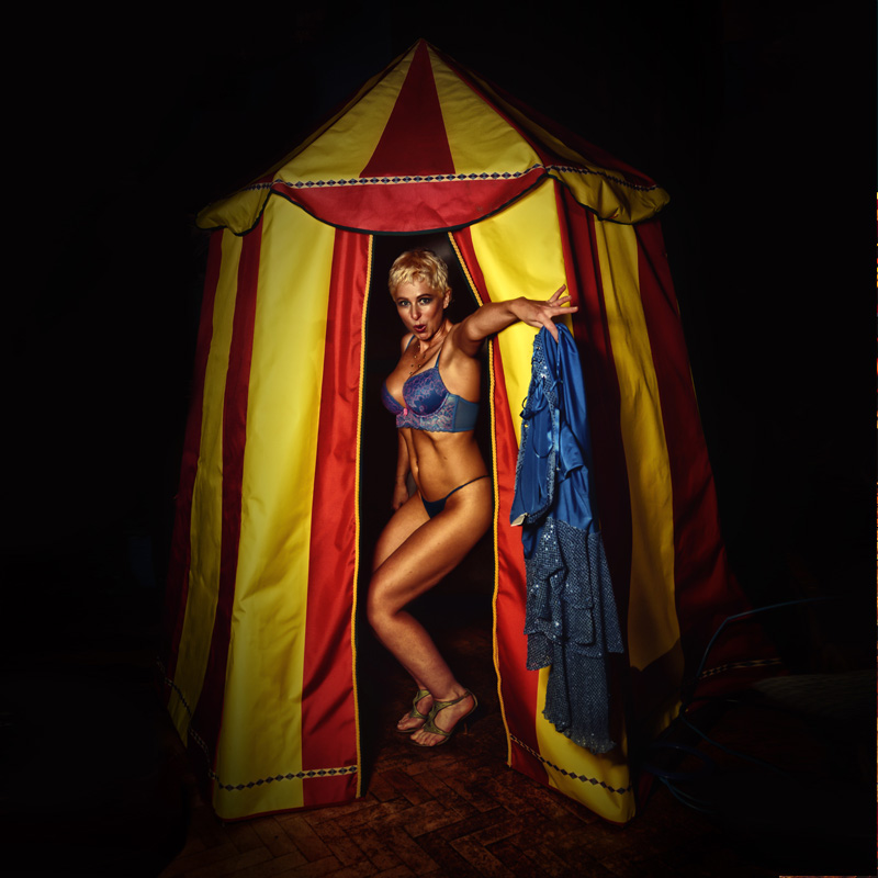 Mini Red and Yellow Circus Tent 4