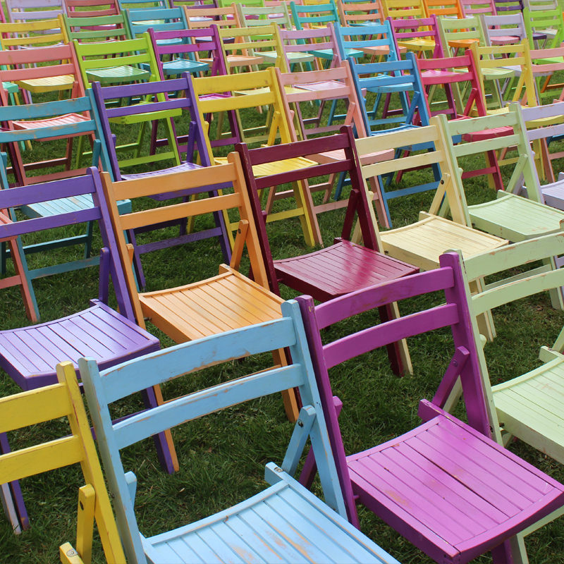 Colourful Wooden Folding Chair