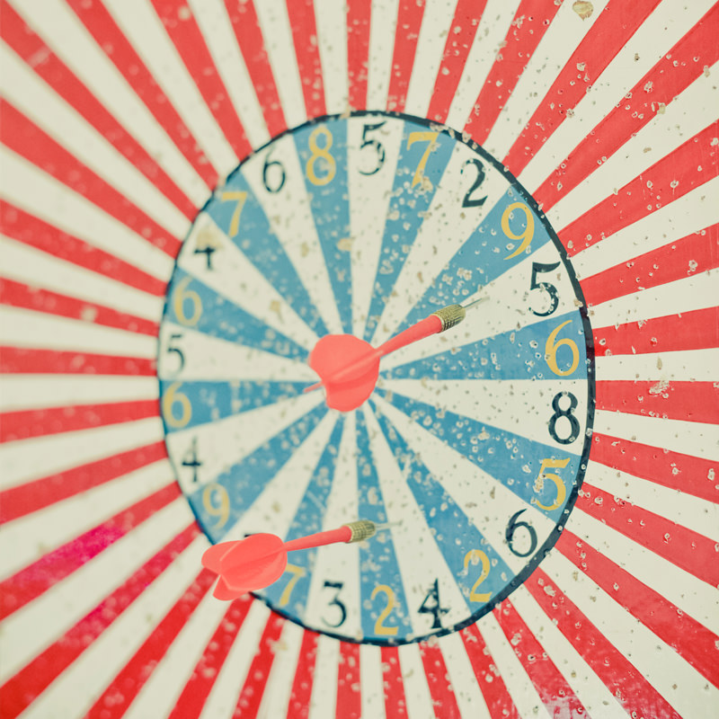 Vintage Well Used Dartboard 2