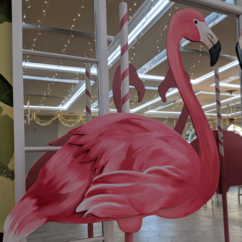 Giant Wooden Flamingo Statue  3