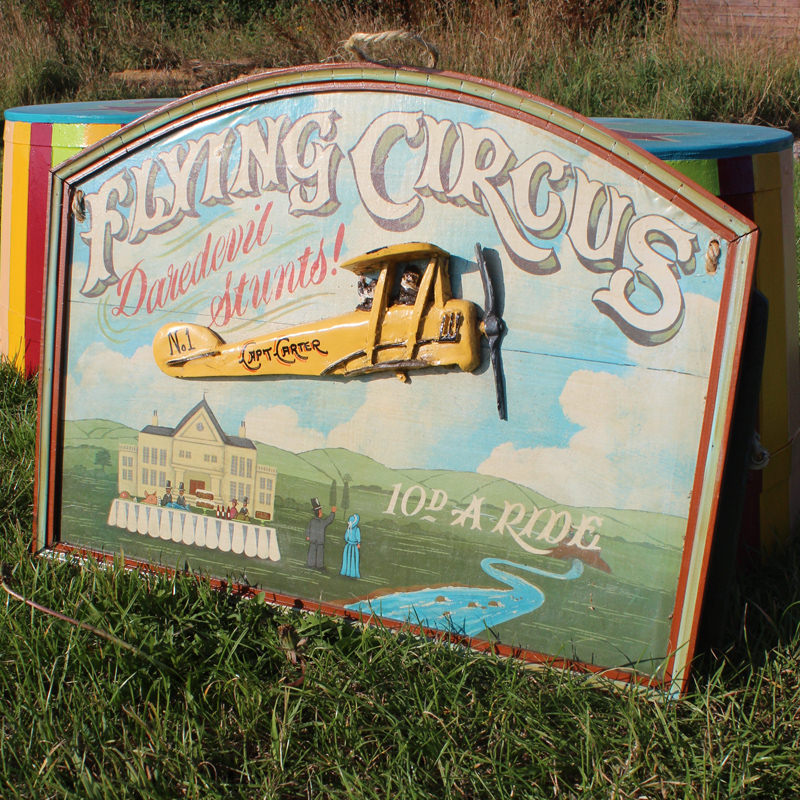 Vintage Flying Circus Sign