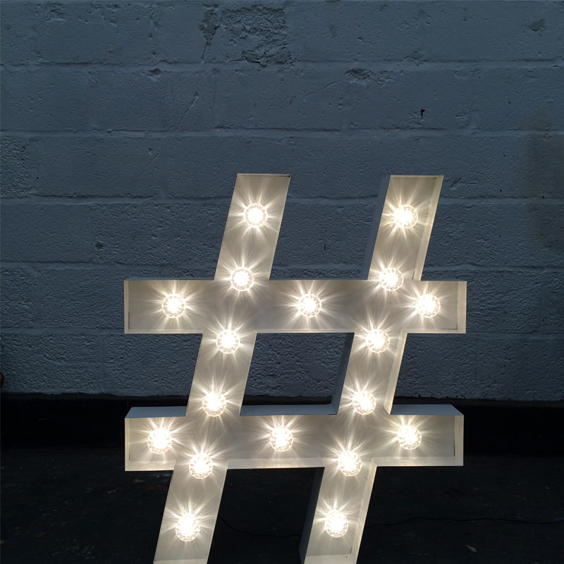Illuminated Hashtag