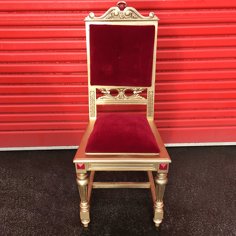 Gold and Red Grand Chair