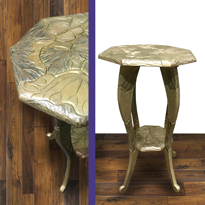 Small Gold Carved Side Table 1