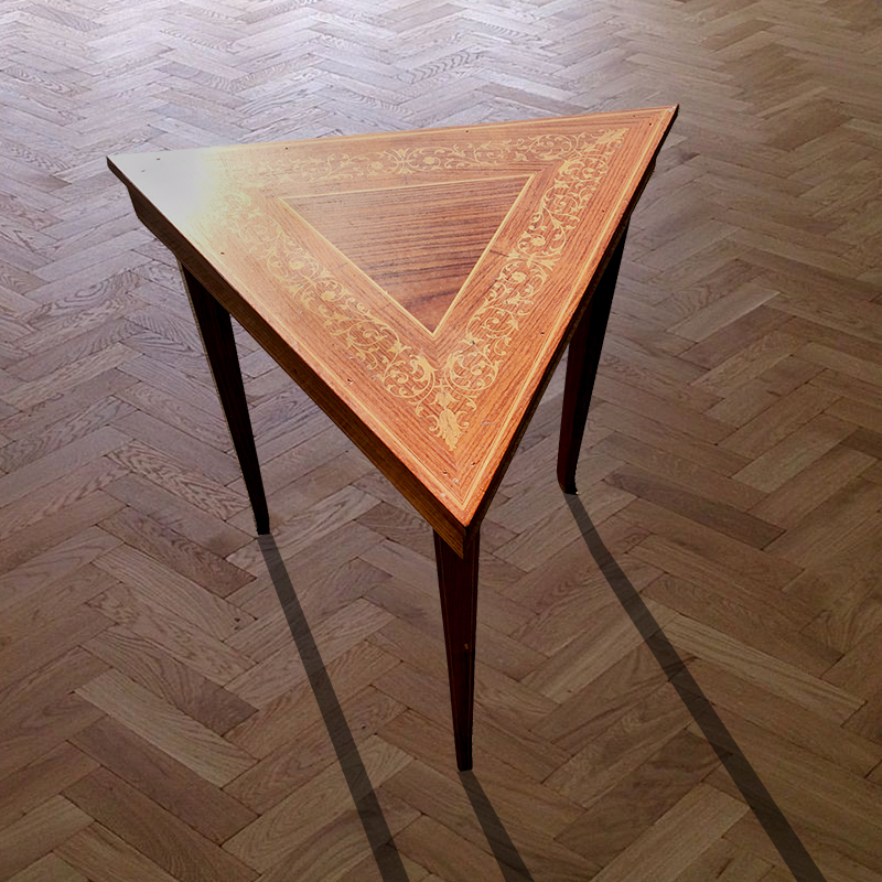 Inlaid Triangle Table