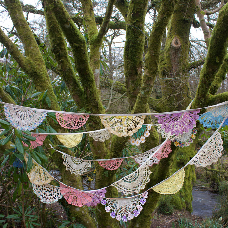 Doily Bunting - Colourful Boho 5m