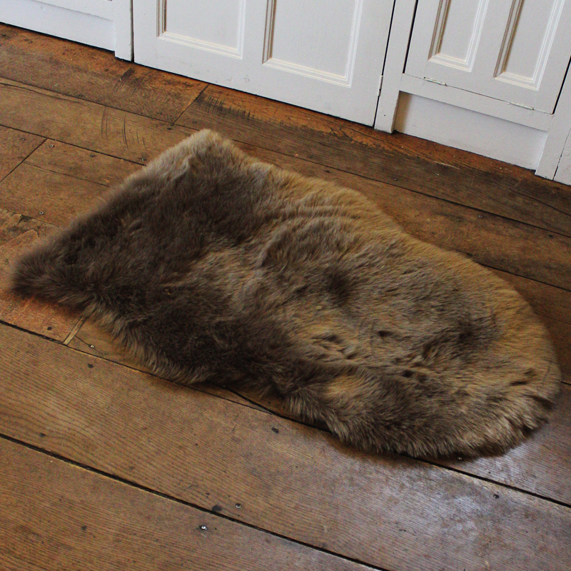 Mouse Brown Faux Fur Rug