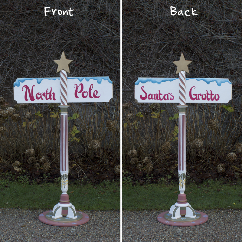 North Pole/Grotto Signpost