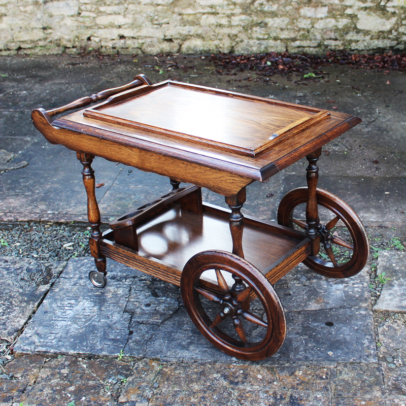 Oak Drinks Trolley 2