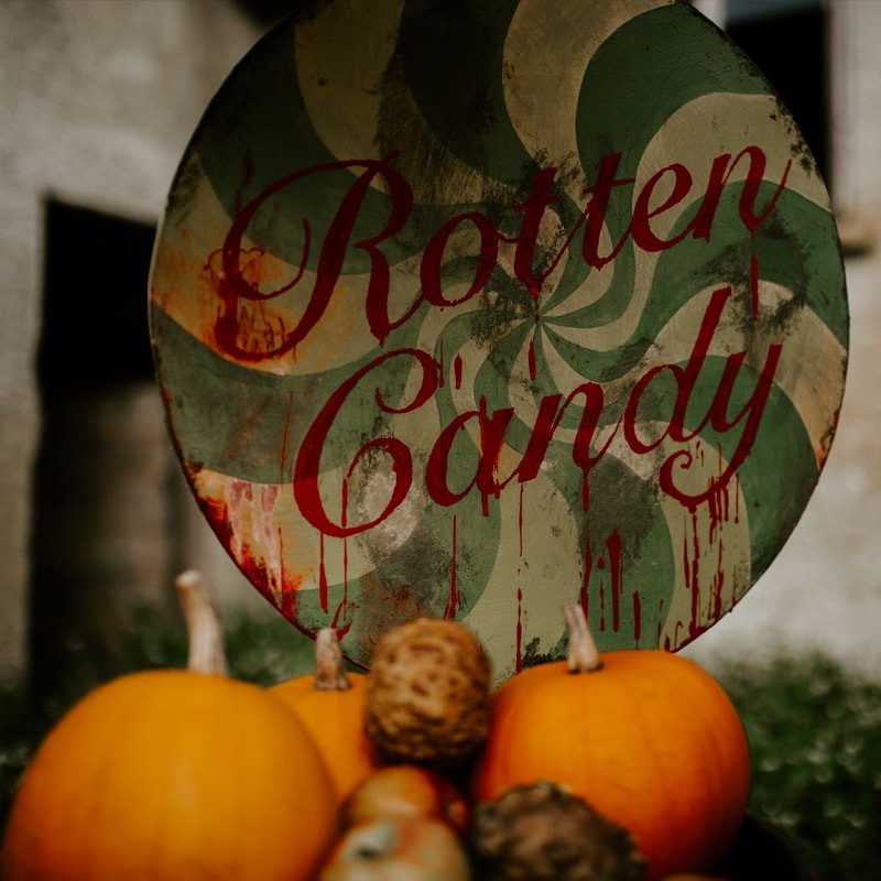 Rotten Candy Giant Lollipop Sign 3