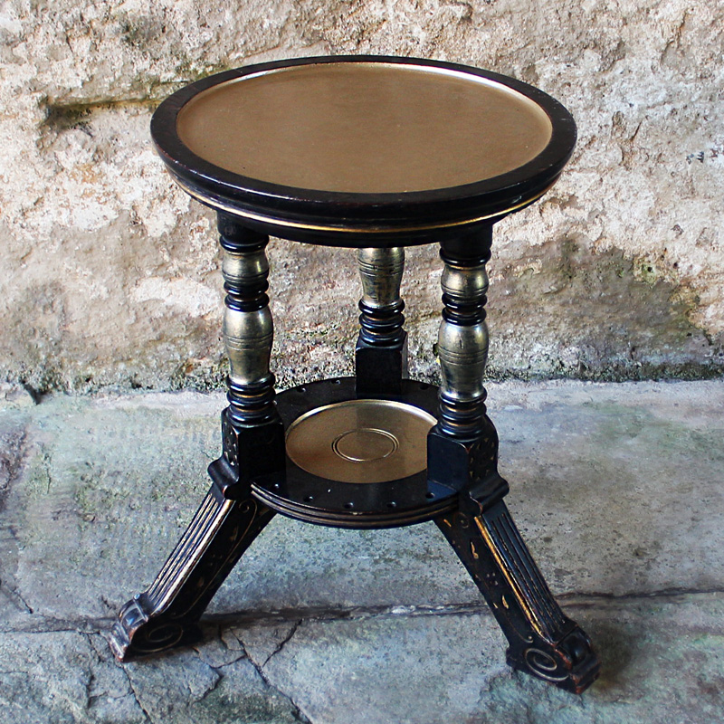 Black & Gold Small Gatsby Side Table