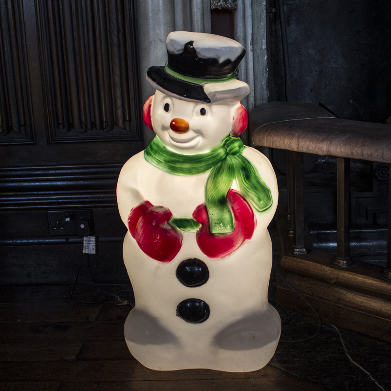 Light Up Vintage Snowman