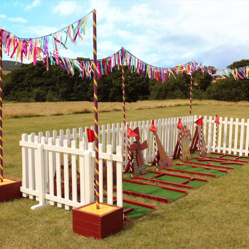 Circus Coloured Pole for Bunting/Festoon 2