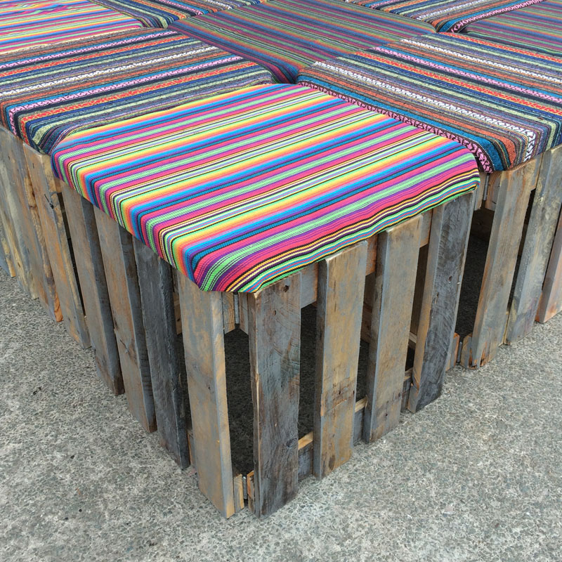 Cushioned Pallet Stool
