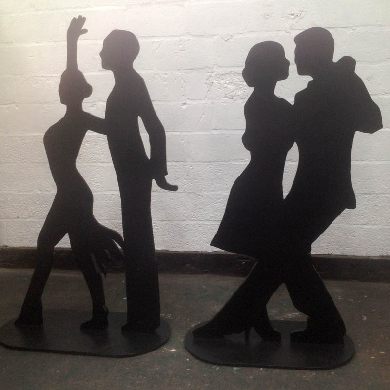 Dancing Couple Silhouette 1