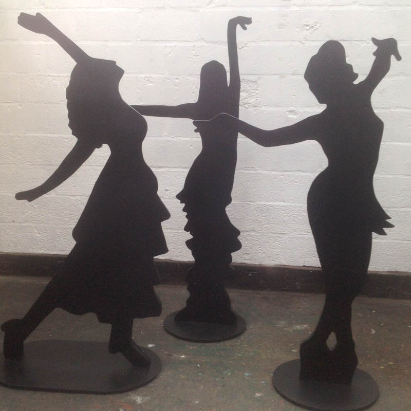 Dancing Lady Silhouette