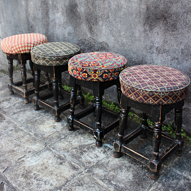 Dining Size Vintage Pub Stool - authentically aged 1