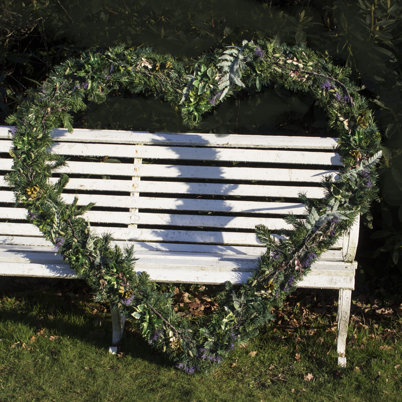 Giant Evergreen Heart Frame