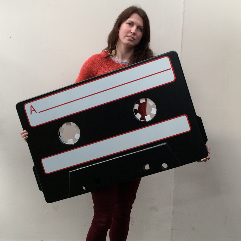 Giant Cassette Tape Sign