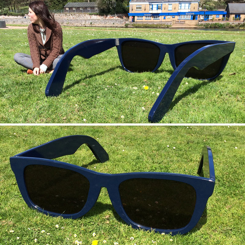 Giant Navy Sunglasses