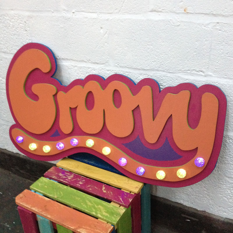 Light Up Groovy Sign
