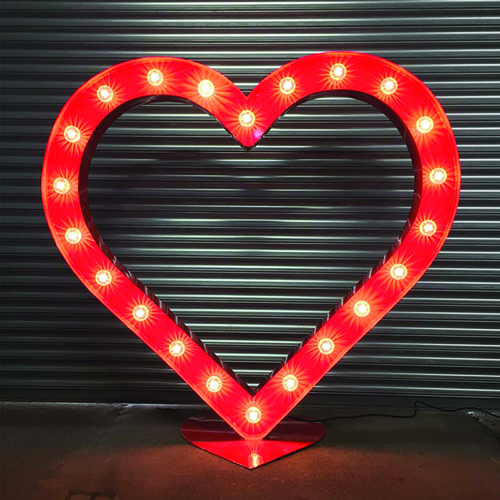 Illuminated Red Heart