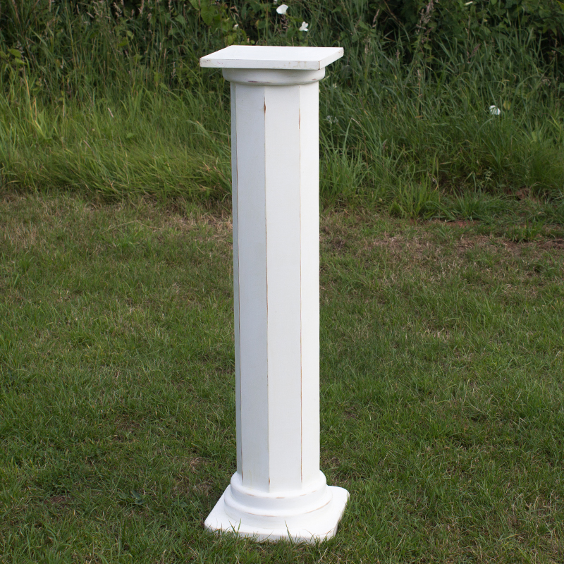 Large White Georgian Pillar