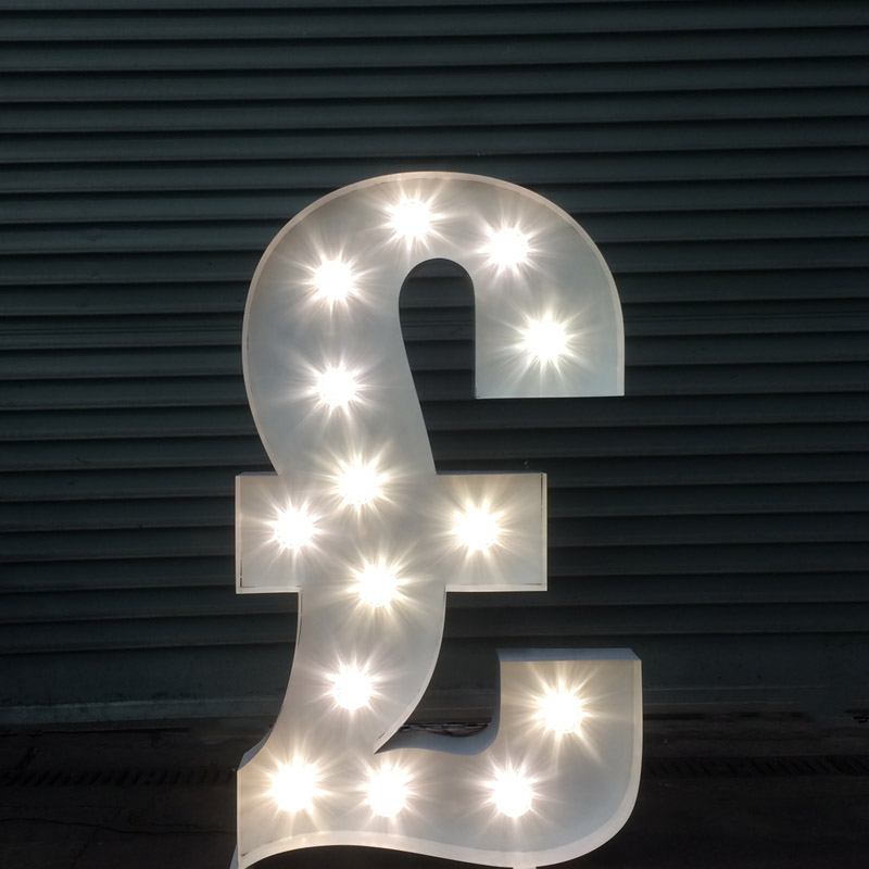 Illuminated £ Pound Symbol