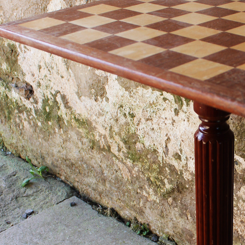 Light Wood Chess Table 4