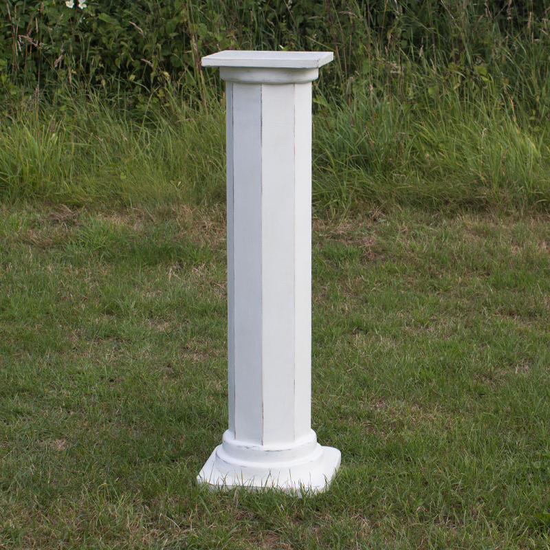 Medium White Georgian Pillar
