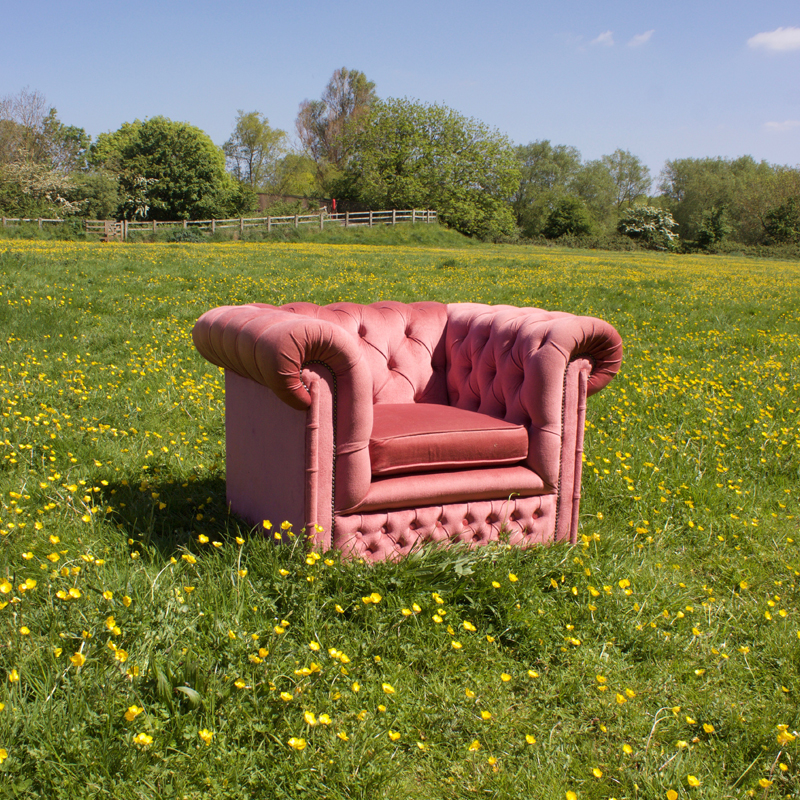 Pink Velvet Chesterfield Chair