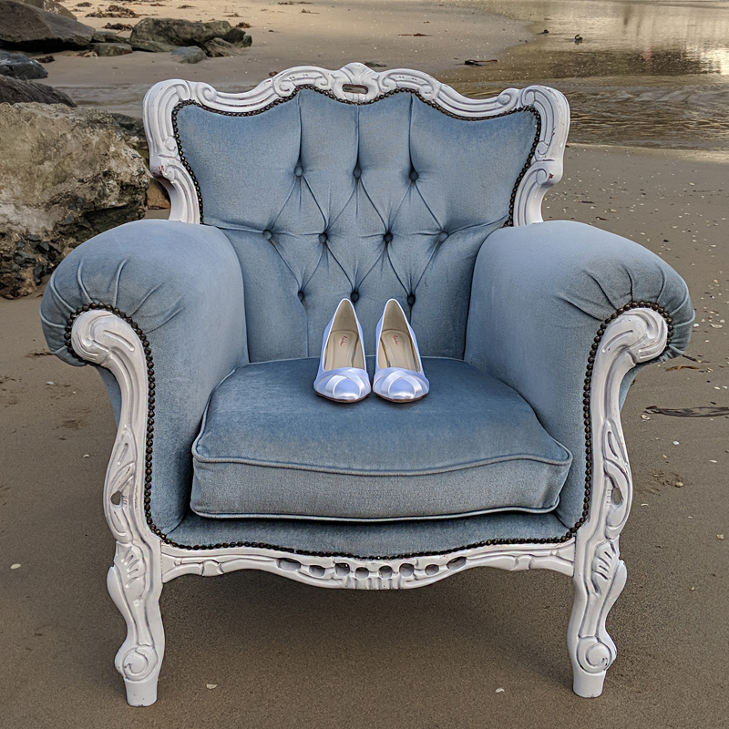 Powder Blue Emily Armchair