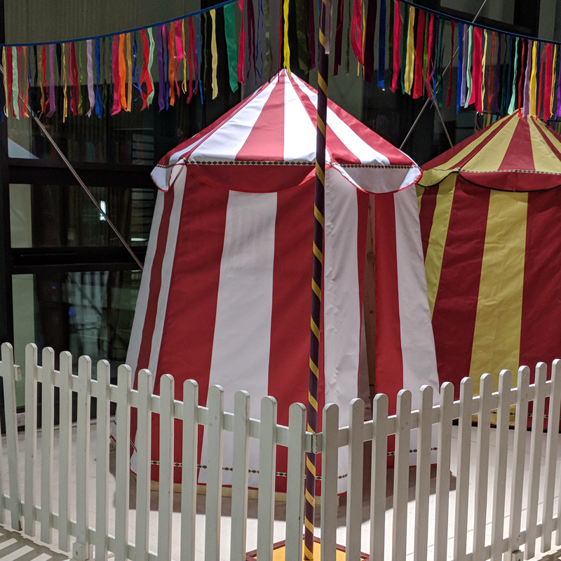 Mini Red and White Circus Tent 2