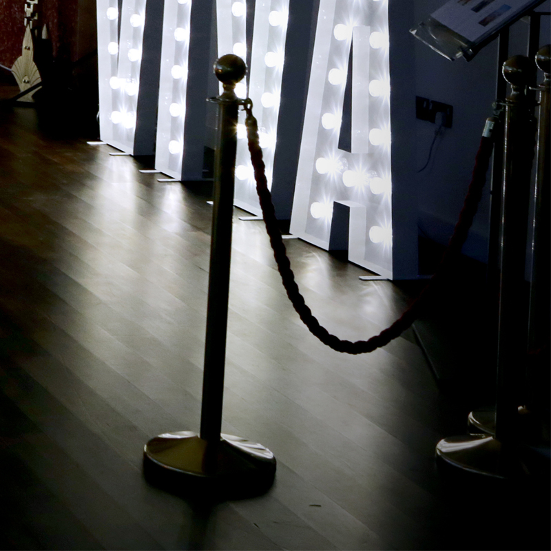Red Carpet & Gold Barriers 2